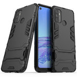 Slim Armour Tough Shockproof Case & Stand for Oppo A53 / A53s - Black