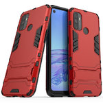 Slim Armour Tough Shockproof Case & Stand for Oppo A53 / A53s - Red
