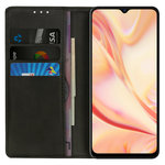 Leather Wallet Case & Card Holder Pouch for Oppo Find X2 Lite - Black