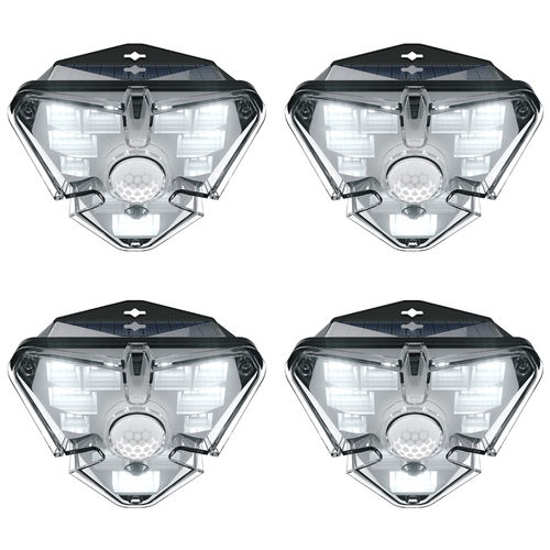 Baseus Energy Outdoor (4-Pack) LED Outdoor Wall Lamp / Motion Sensor Light / Solar Panel