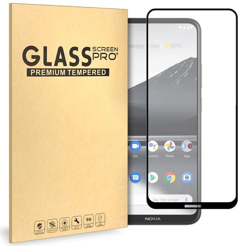 Full Coverage Tempered Glass Screen Protector for Nokia 3.4 - Black
