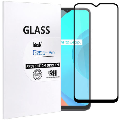 Imak Full Coverage Tempered Glass Screen Protector for realme C11 - Black