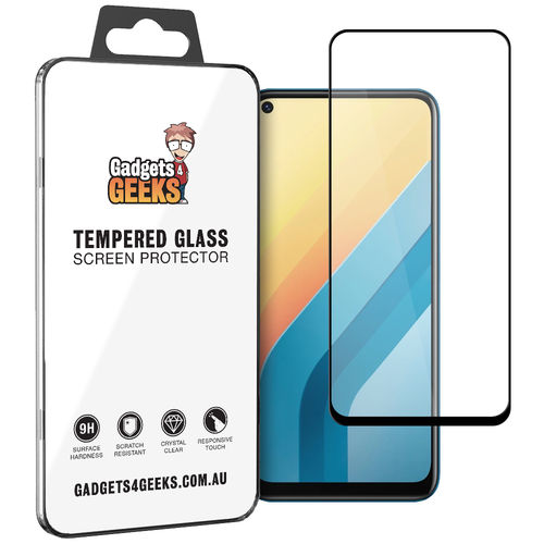 Full Coverage Tempered Glass Screen Protector for Vivo Y30 - Black