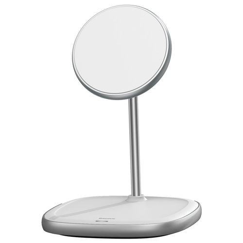 Baseus Swan (15W) Magnetic Wireless Charger Stand for iPhone 12 / Mini / Pro / Max - White