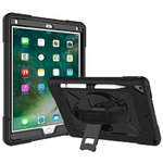 Dual Armour / Hand Strap / Kickstand / Shockproof Case for Apple iPad Air 2 / Pro (9.7-inch)