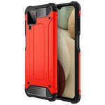 Military Defender Tough Shockproof Case for Samsung Galaxy A12 - Red