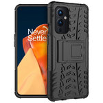 Dual Layer Rugged Tough Case & Stand for OnePlus 9 - Black