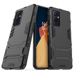 Slim Armour Tough Shockproof Case & Stand for OnePlus 9 - Black