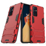 Slim Armour Tough Shockproof Case & Stand for OnePlus 9 - Red