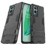 Slim Armour Tough Shockproof Case & Stand for OnePlus 9 Pro - Black