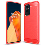 Flexi Slim Carbon Fibre Case for OnePlus 9 - Brushed Red