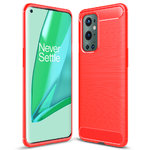 Flexi Slim Carbon Fibre Case for OnePlus 9 Pro - Brushed Red