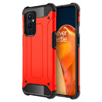 Military Defender Tough Shockproof Case for OnePlus 9 - Red