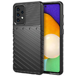 Flexi Thunder Shockproof Case for Samsung Galaxy A52 - Black (Texture)