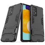 Slim Armour Tough Shockproof Case & Stand for Samsung Galaxy A52 - Black