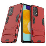 Slim Armour Tough Shockproof Case & Stand for Samsung Galaxy A52 - Red