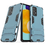 Slim Armour Tough Shockproof Case & Stand for Samsung Galaxy A52 - Blue