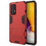 Slim Armour Tough Shockproof Case & Stand for Samsung Galaxy A72 - Red