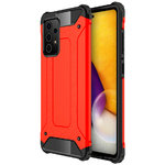 Military Defender Tough Shockproof Case for Samsung Galaxy A72 - Red