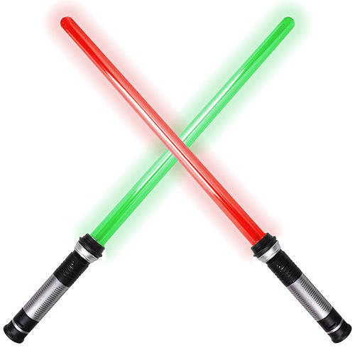 (2-in-1) Star Wars Dual Lightsaber Set / 5-Colour LED / Sound Motion Sensitive (26-inch)