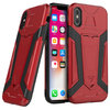 Slim Guard Plate Tough Shockproof Case for Apple iPhone X / Xs - Red