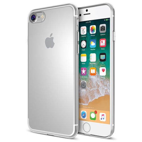 Flexi Slim Gel Case for Apple iPhone 8 Plus / 7 Plus - Clear (Gloss Grip)
