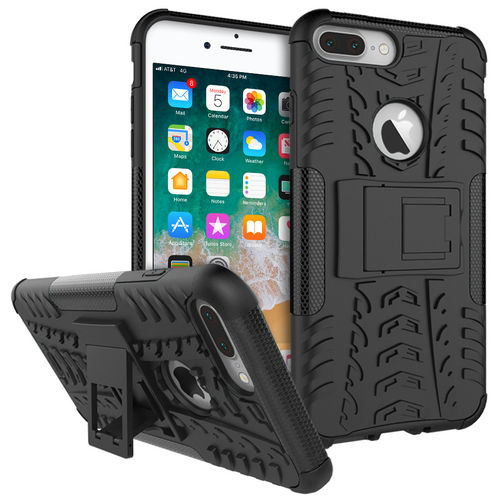 Dual Layer Tough Shockproof Case for Apple iPhone 8 Plus / 7 Plus - Black