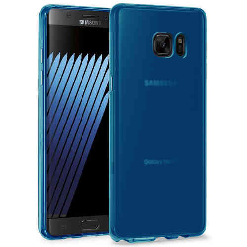 Flexi Gel Two-Tone Case for Samsung Galaxy Note FE - Smoke Blue