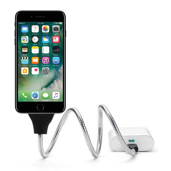 Flexible Heavy Duty Metal Lightning Charging Cable For Iphone