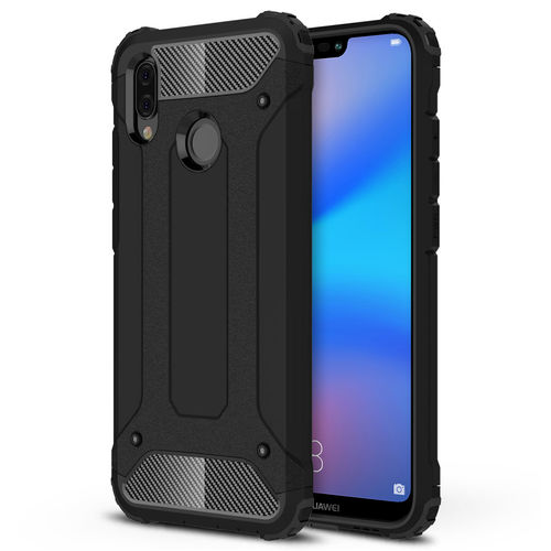 Military Defender Shockproof Case for Huawei Nova 3e - Black