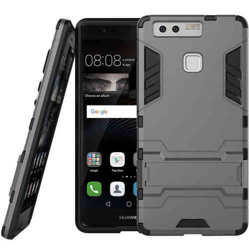 Slim Armour Rugged Tough Shockproof Case for Huawei P9 - Silver