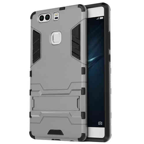 Slim Armour Tough Shockproof Case & Stand for Huawei P9 Plus - Silver
