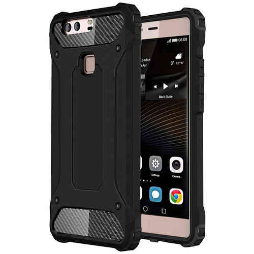 Military Defender Tough Shockproof Case for Huawei P9 Plus - Black