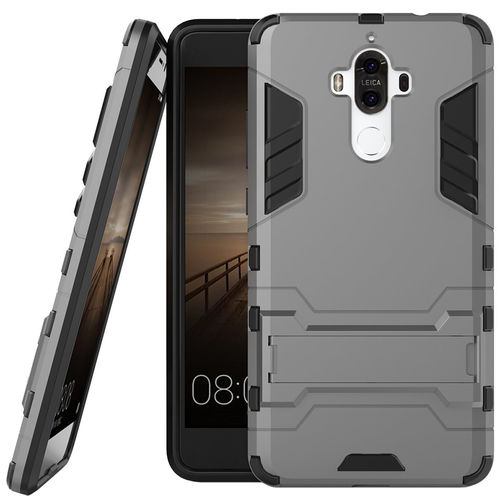 Slim Armour Tough Shockproof Case & Stand for Huawei Mate 9 - Grey