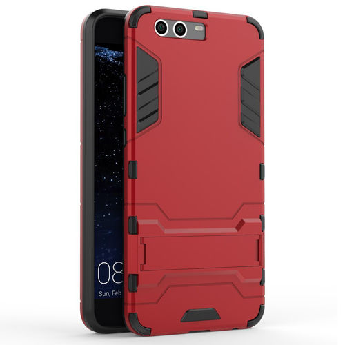 Slim Armour Rugged Tough Shockproof Case for Huawei P10 Plus - Red