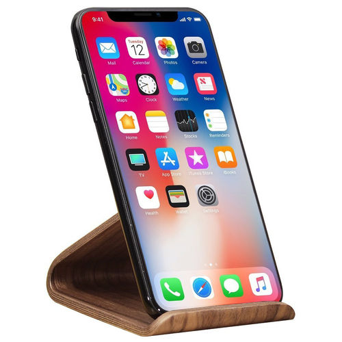 Samdi Universal Wooden Desktop Stand for Mobile Phone - Coffee Walnut