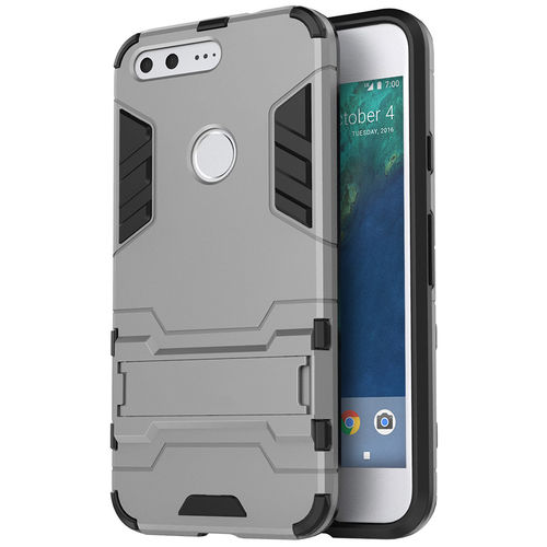 Slim Armour Tough Shockproof Case for Google Pixel XL - Silver