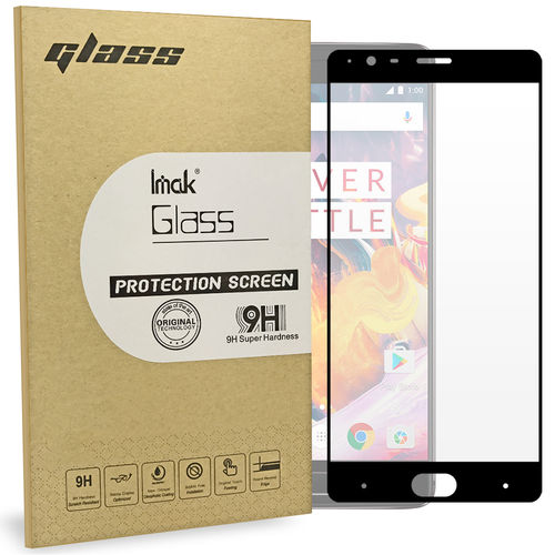 Imak Full Coverage Tempered Glass Screen Protector for OnePlus 3 / 3T - Black