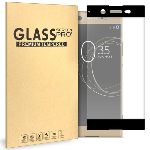 Full Coverage Tempered Glass Screen Protector for Sony Xperia XA1 Ultra - Black