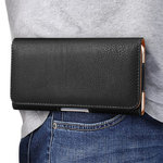 Executive XXL Horizontal Leather Pouch & Belt Clip Case for Mobile Phone