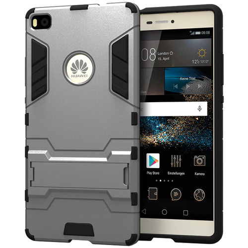 Slim Armour Rugged Tough Shockproof Case for Huawei P8 - Grey