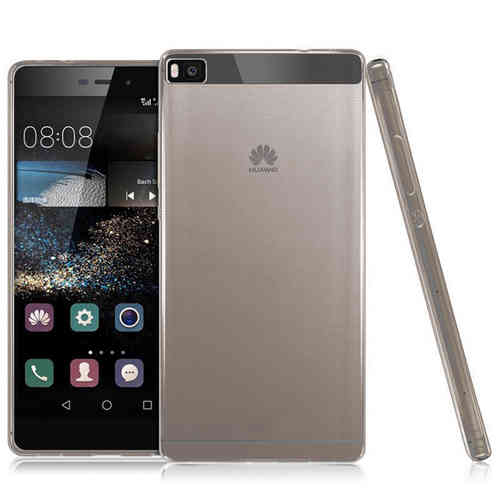 Flexi Slim Gel Case for Huawei P8 - Black (Clear Gloss)