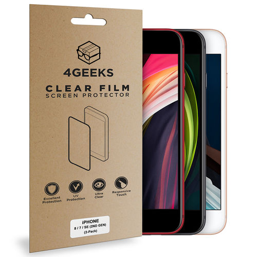 (2-Pack) Clear Film Screen Protector for Apple iPhone 8 / 7 / SE (2nd Gen)