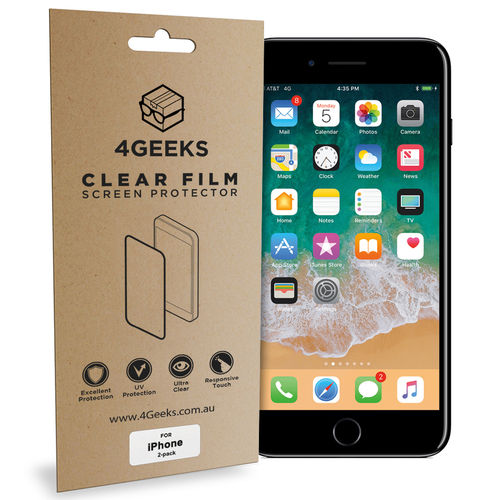 (2-Pack) Clear Film Screen Protector for Apple iPhone 8 Plus / 7 Plus