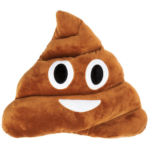 Emoji Smiley Poop Emoticon / Soft Toy Pillow / Stuffed Plush Cushion