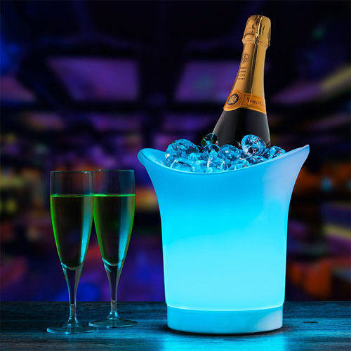 Colourful LED Party Ice Bucket Champagne Wine Beer Drinks Cooler (5L)