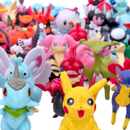 Pokemon Mini Battle Action Figures Complete Party Play Set (144-Pack)