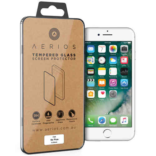 Aerios 9H Tempered Glass Screen Protector for Apple iPhone 6 Plus / 6s Plus