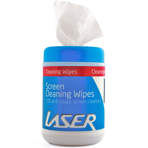 Laser (100-Pack) Anti-Static Glass Screen Cleaning Wipes Dispenser