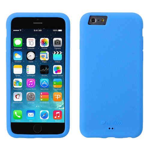 Melkco Silikonovy Case & Wrist Strap for Apple iPhone 6 / 6s - Blue